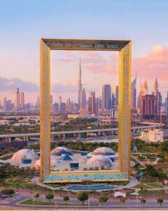 قاب طلایی دبی - Golden Frame Dubai