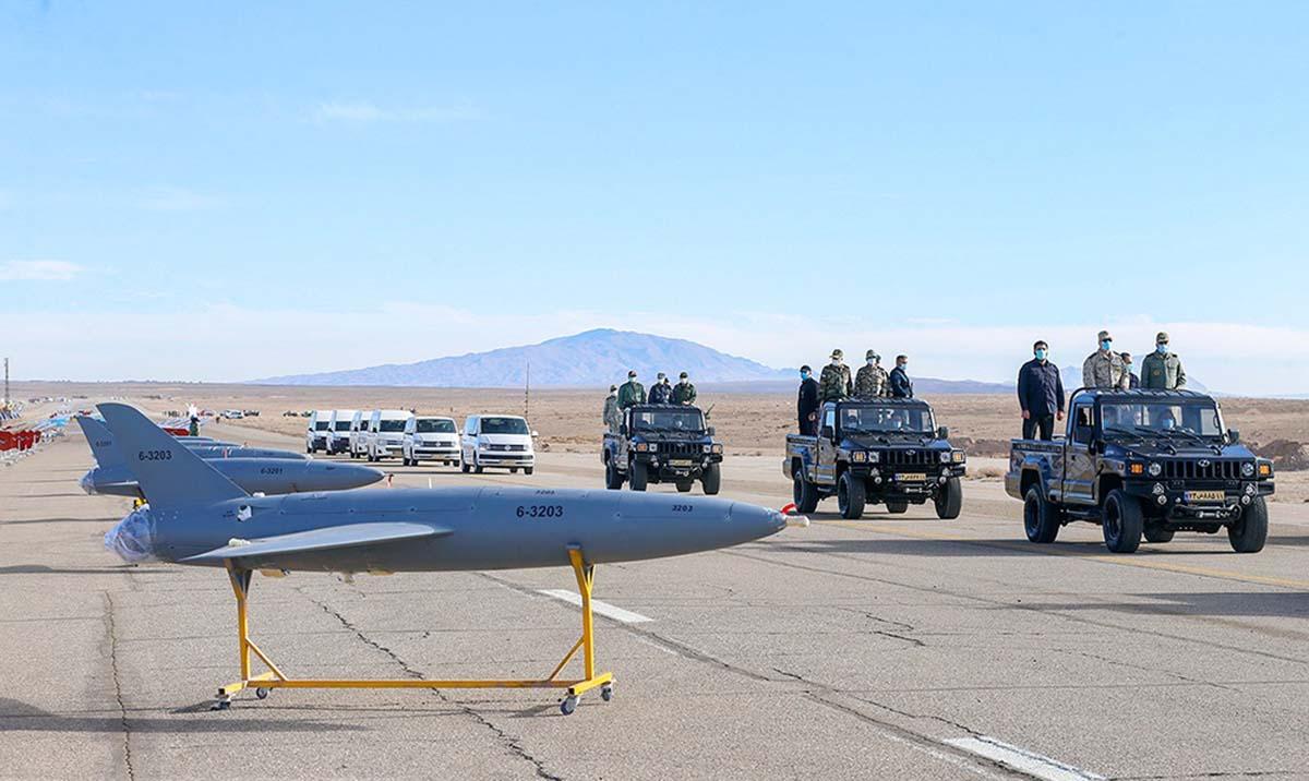 پهپاد رزمی و پدافندی کیان ارتش جمهوری اسلامی ایران در رزمایش