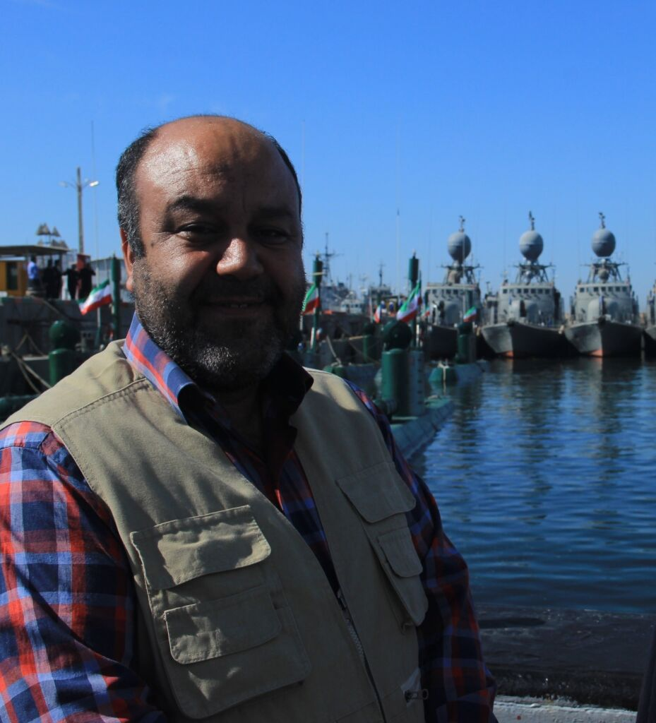 مرحوم رضا اقصامی مدیر روابط عمومی نیروی دریایی راهبردی ارتش