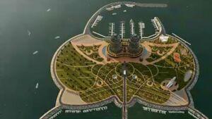 نخستین جزیره مصنوعی در بندر نوشهر در دریای کاسپین