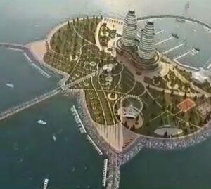 نخستین جزیره مصنوعی کشور به شکل گل ارکیده در دریای خزر