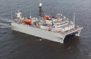 کشتی نظارت بر اقیانوس کلاس Victorious مجهز به SURTASS -USNS Loyal T AGOS-22