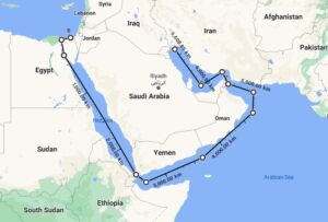 نقشه برد زیردریاییهای کلاس دلفین نیروی دریایی اسرائیل