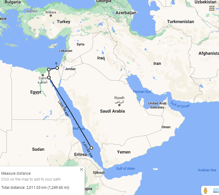 فاصله کشتی ایرانی ساویز در دهانه دریای سرخ از سواحل اسرائیل