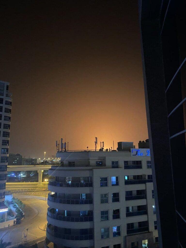 انفجار نفتکش در بندر جبل علی