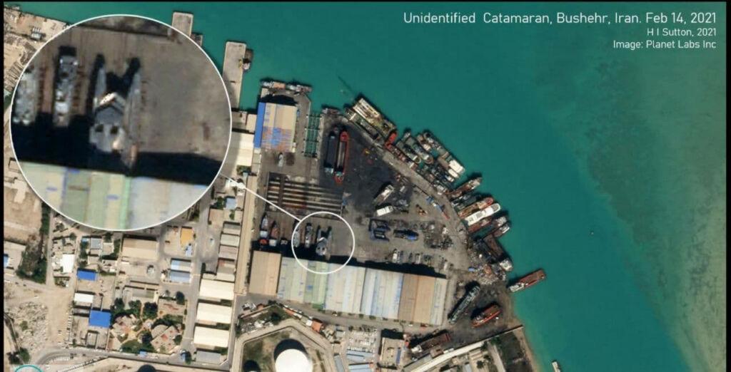 ساخت بدنه کاتاماران شهید سلیمانی در یارد بوشهر