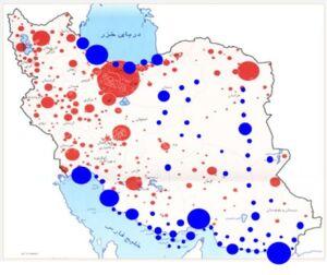 توزیع جمعیت مطلوب در یک افق 20 ساله با تفکرات توسعه دریامحور