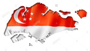 سنگاپور مرز جغرافیایی پرچم